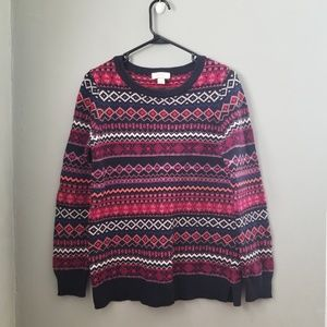 LOFT I Pull over crewneck small sweater boho